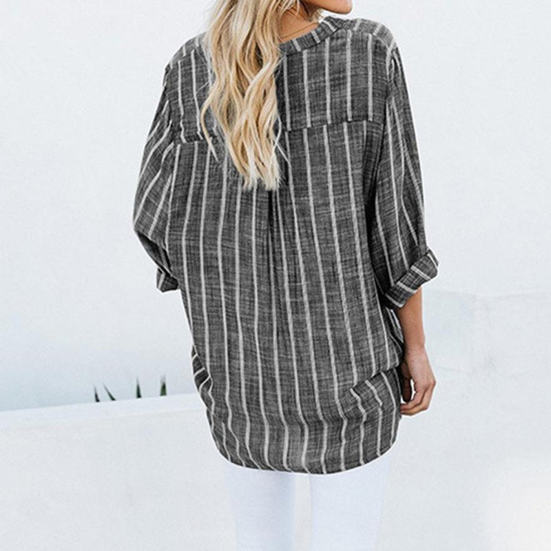 Cotton With Irregular Stripes And Linen Shirts