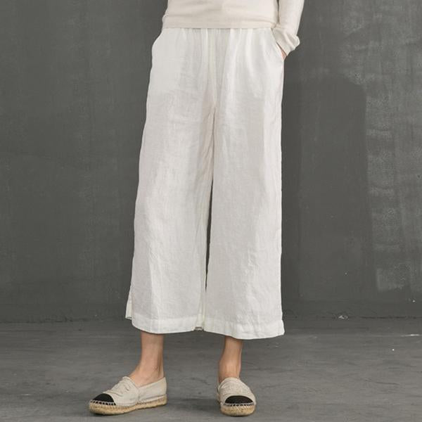 Plus Size Women Casual Wide Leg Pants