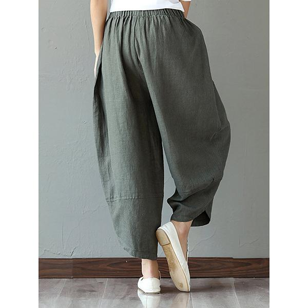d245072a3f5ca Women Paneled Pockets Casual Cocoon Pants – laddytopia