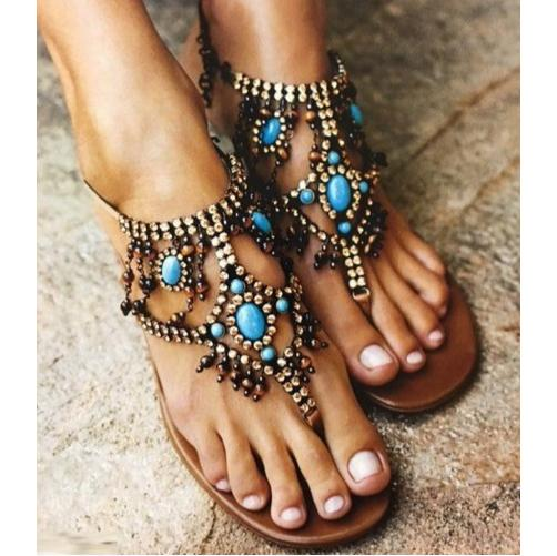 Casual Bohemian Style  Flip Flops Shoes