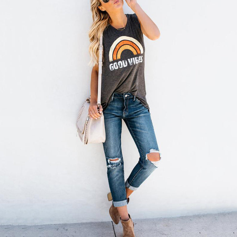 Good Vibes O-Neck Tank