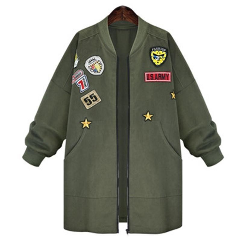 5e2c9017e8c Women Plus Size Casual Military Badges Coats – laddytopia