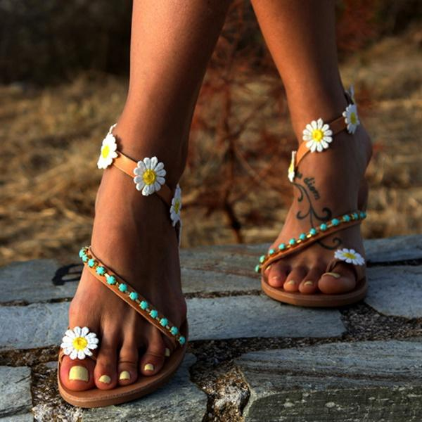 Flower Sandals Casual Comfy Flip Flop Shoes