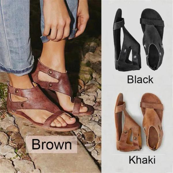 985f398e285d Womens Sandals Flat Gladiator Thong Casual Summer Shoes – laddytopia