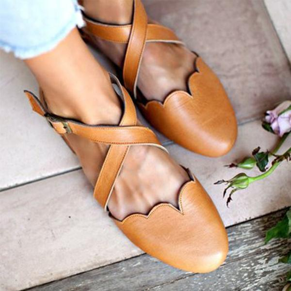 Sweet Flat Round Toe Sandals
