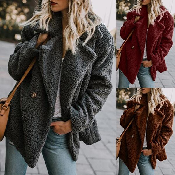 Women Casual Buttoned Quilted Coat
