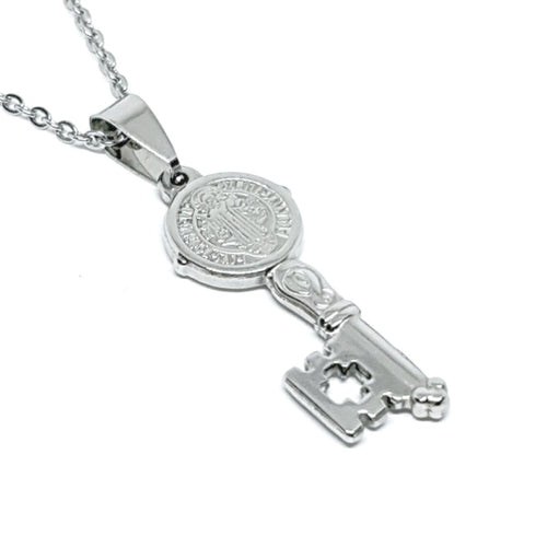 sam gowland, sg apparel necklace. geordie shore necklace in silver christian nirvana key