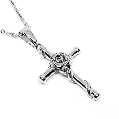 ROSE CROSS - SILVER