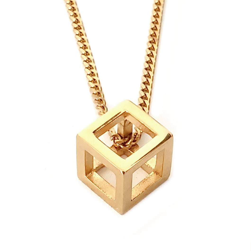 SG CUBED CHAIN - GOLD