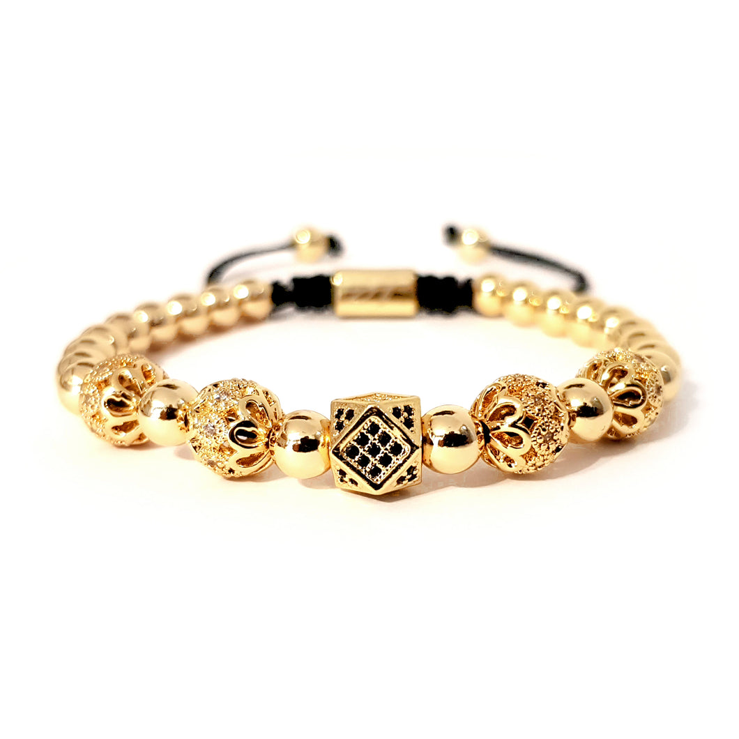 sg apparel - Emerald bead bracelet in gold by sam gowland from geordie shore
