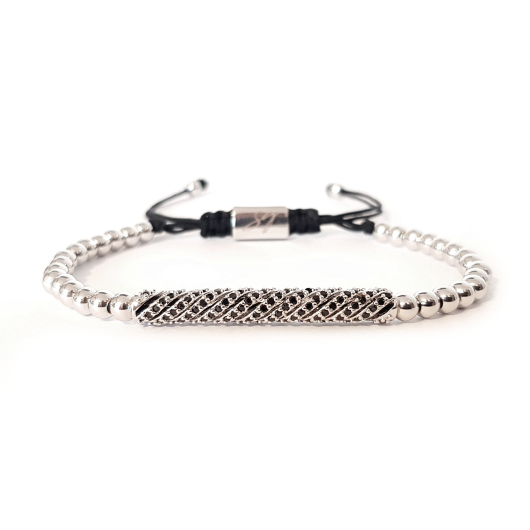 SG apparel - silver twister bracelet by Sam Gowland from Geordie shore