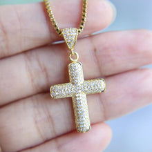 ICED CROSS - GOLD