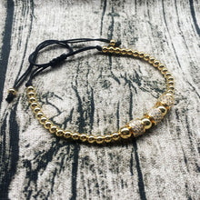 ICED RING BRACELET - GOLD