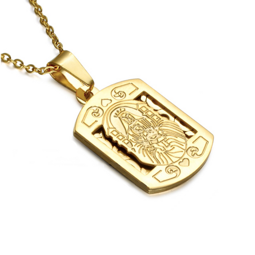 Christian Plaque necklace, www.sgapparel.co.uk by sam gowland
