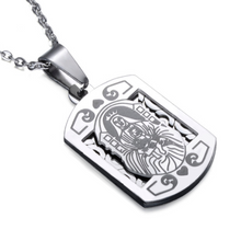 Christian Plaque necklace in silver, www.sgapparel.co.uk by sam gowland