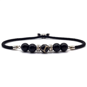 SG Apparel - Onxy rope bead bracelet silver by Sam Gowland from geordie shore