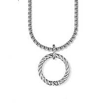 925 STERLING SILVER TWISTED CHARM NECKLACE