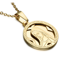 VIRGIN MARY MEDALLION IN GOLD
