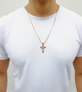 CRUCIFIX CHAIN - GOLD