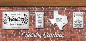 Custom Wedding Signs | RedMerle Designs | Rustic Wedding