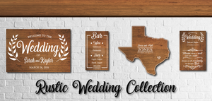 Rustic Wedding Signs | RedMerle Designs | Country Wedding