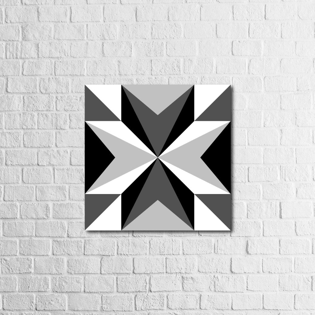 Barn Quilt - Black and White | RedMerle Designs | Houston, Texas | Custom Signs & Furniture