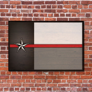 Texas Flag Supporting Firefighter & Paramedics Sign | RedMerle Designs | Katy Texas | Custom Signs and Home Decor