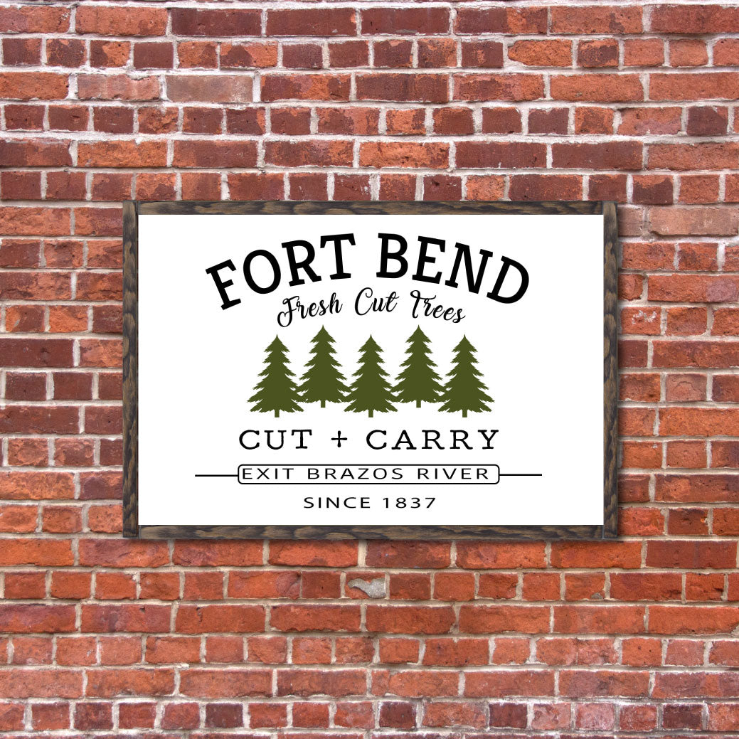 Fort Bend Farm Fresh Trees - Winter Sign
