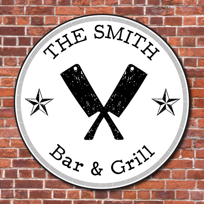 Chopping Block Grill Sign | RedMerle Designs | Custom Signs