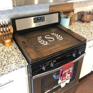 Stove top cover | RedMerle Designs | Farmhouse Decor