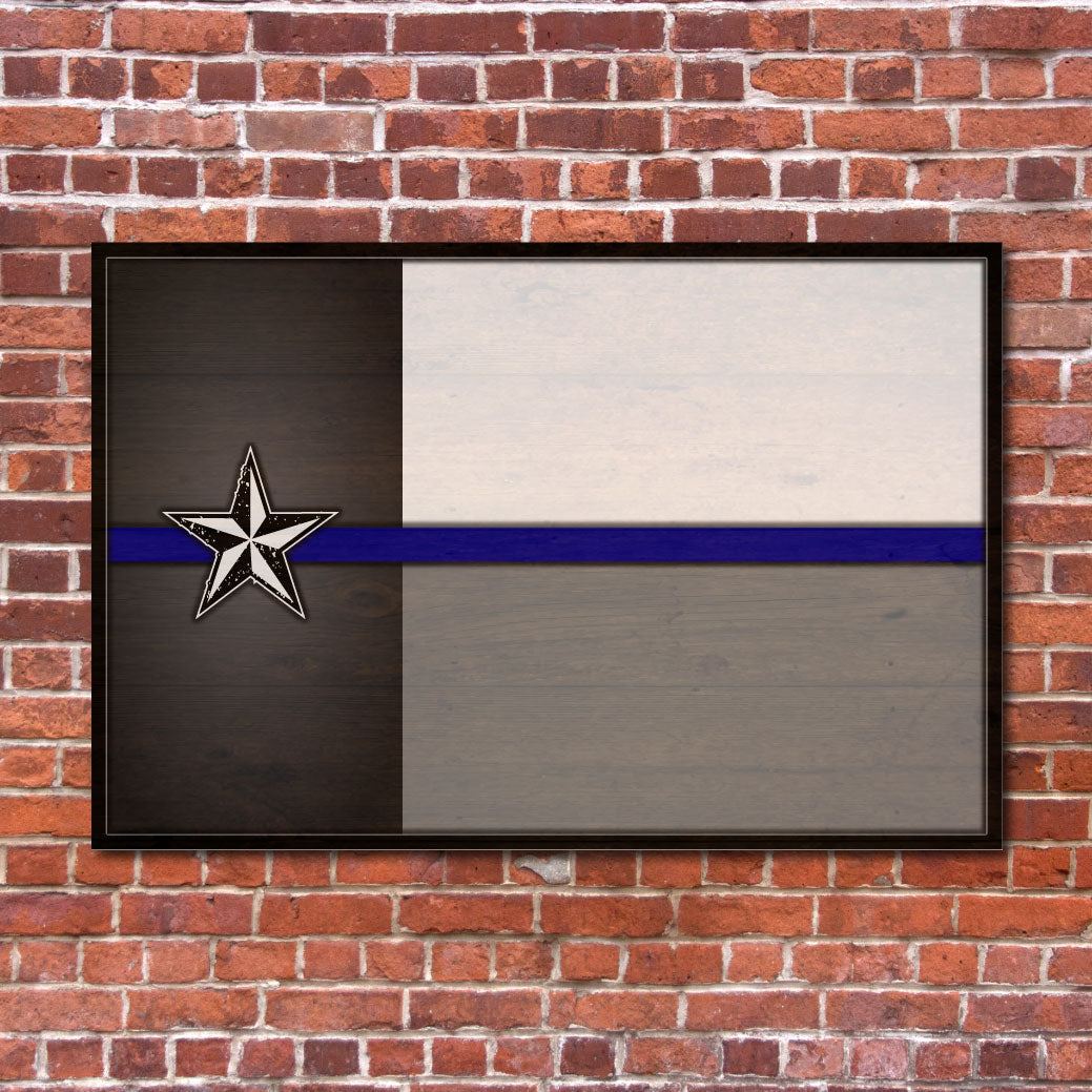 Texas Flag Supporting Police Sign | RedMerle Designs | Katy Texas | Custom Signs and Home Decor