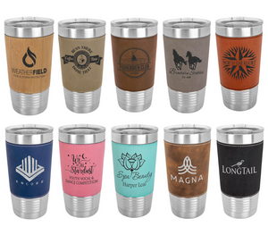 Engraved Leather Tumbler