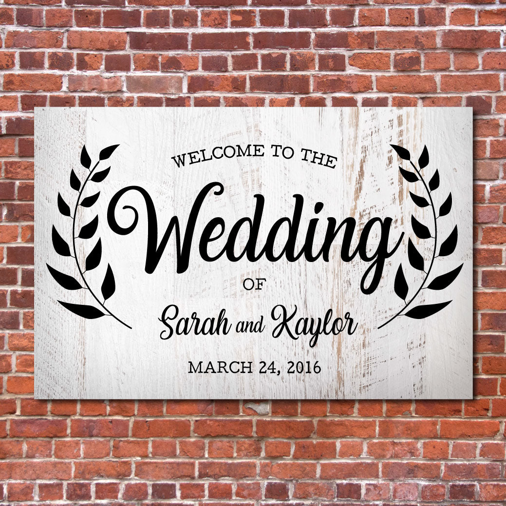 Custom Welcome Sign | White Rustic Wedding | Southern Wedding | RedMerle Designs