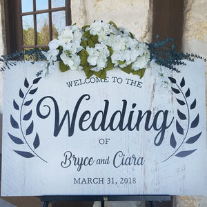 Custom Rustic Wedding Welcome Sign | Houston Texas | RedMerle Designs