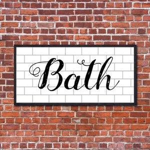 Farmhouse Bath Sign | RedMerle Designs | Decor | Houston | Custom Sign