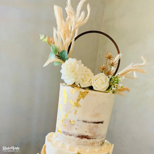 Beautiful Circle Cake Topper