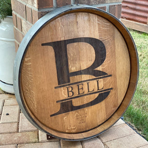 Barrel Top with Barrel Ring - Laser Engraved