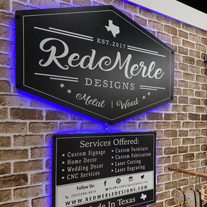Business Signs with Back Lighting