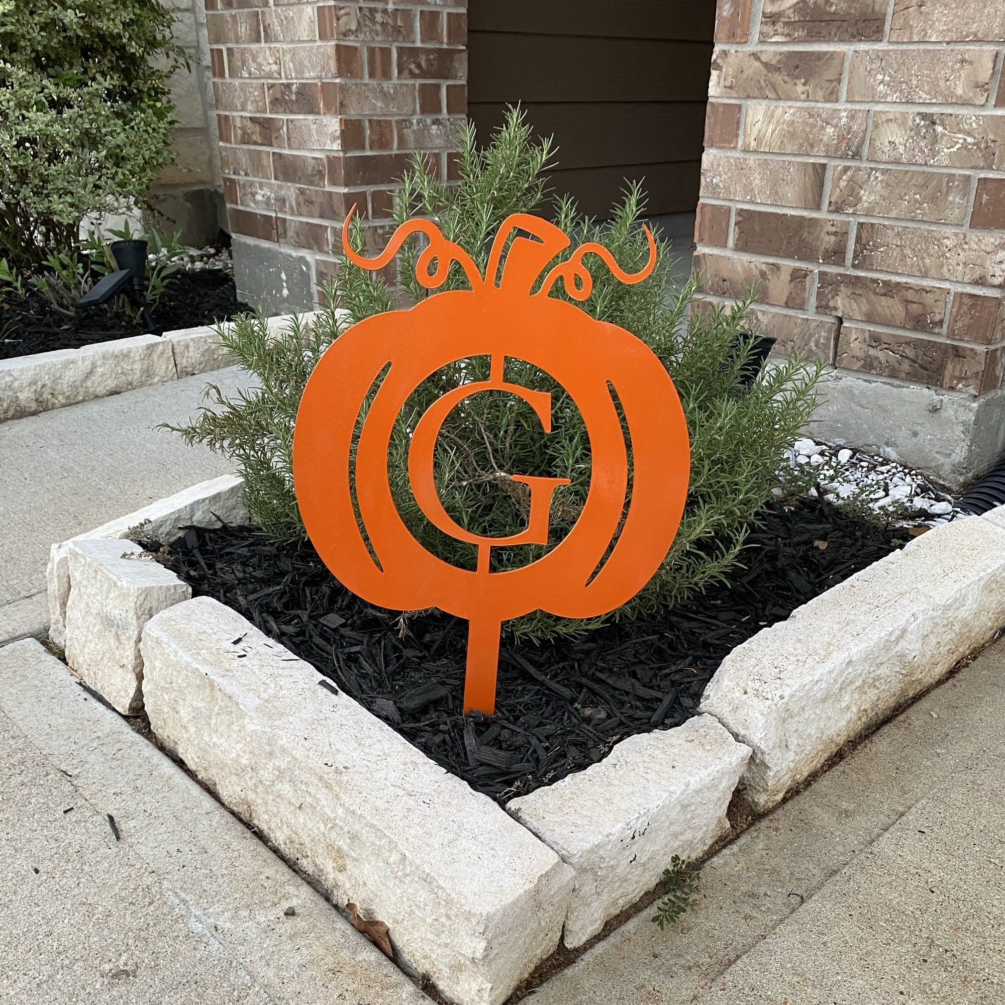 Personalized Metal Pumpkin