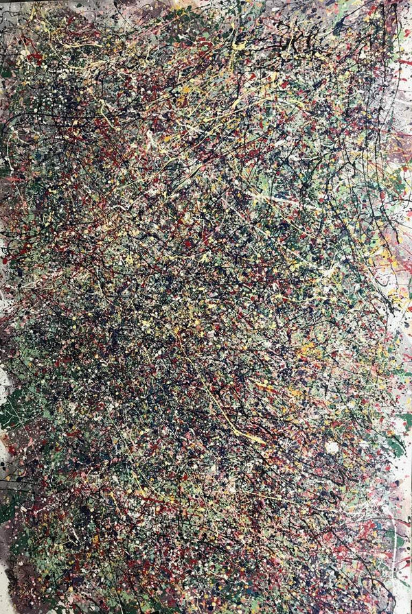 Abstract # 15 Mixed Medium Painting on Canvas by Luigi Cosentino