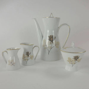 Rosenthal Shadow Rose Modernist Dinner and Coffee Service for Eight Germany