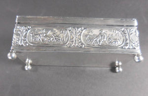 Antique Dutch Repoussé Silver Trinket Box Netherlands, circa 1917