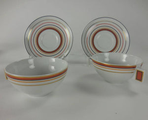 Vista Alegre Art Deco Style Porcelain Tea and Coffee Service Manhattan
