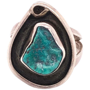Native American Turquoise Navajo 925 Sterling Silver Ring Estate Find