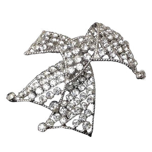 Mimi Di N Signed Tiered CZ Rhinestone Statement Brooch Pin