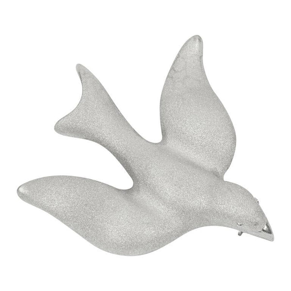 Beautiful Dove of Peace Sterling Silver Brooch Pin