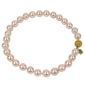 Striking Large Luscious Pink Faux Pearl Choker Necklace