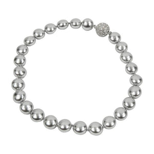 Large Luscious Gray Faux Pearl Choker Runway Necklace