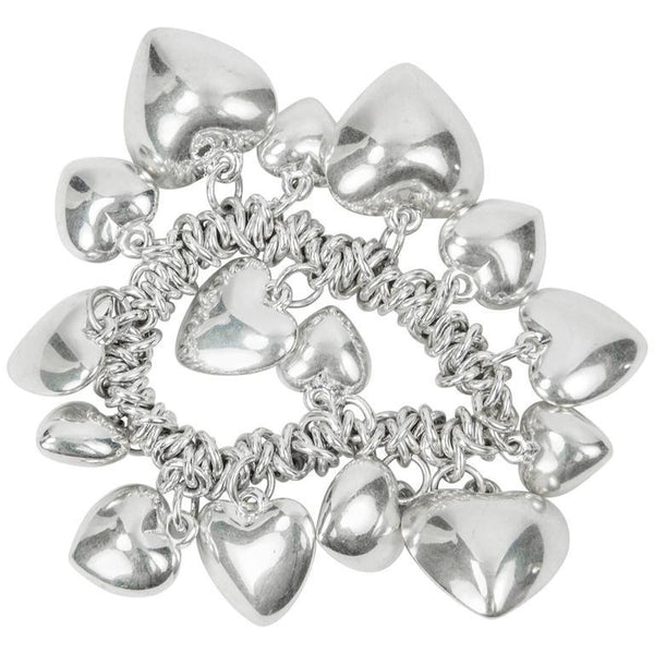 Continuous Loving Hearts Silver Bracelet