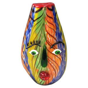 Celebration to Picasso Large Murano Girl's Face Art Glass Vase Titled Anna